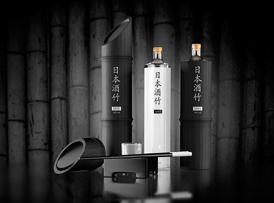 BLACK BAMBOO - packaging design of a Sake