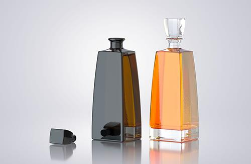 BOSS - 3d model of a glass bottle for alcohol products
