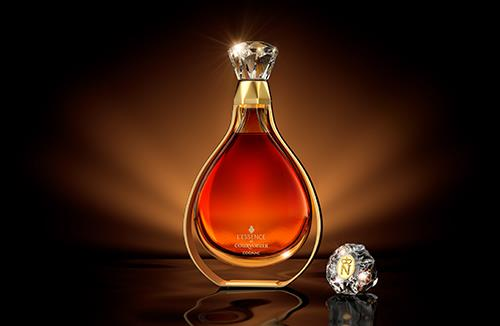 L'essence de Courvoisier - packaging 3D model and scene