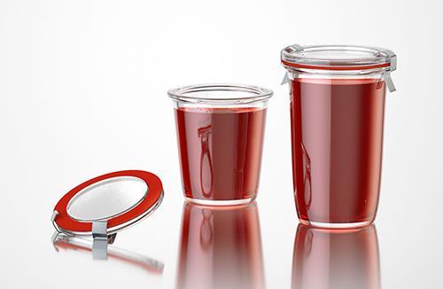 Jam - packaging 3d model of jars for jam or jelly