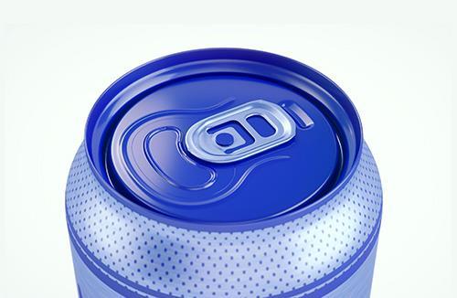 3d packaging model of Metal Standard Beer/Soda Can 440ml