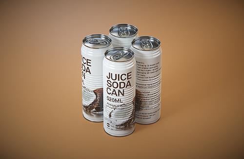 Juice Metal  Can 520ml Premium packaging 3D model pack
