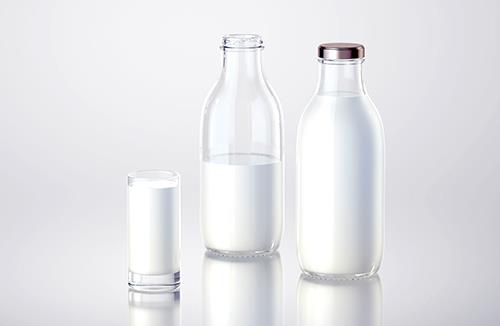 Milky - 3d model of a bottle for dairy products