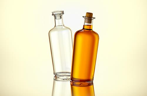 Pirate - packaging 3d model of a glass bottle for alcohol products